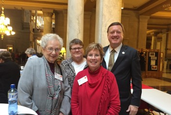 State Representative Eric Koch with Bev, Judy, and Susan
