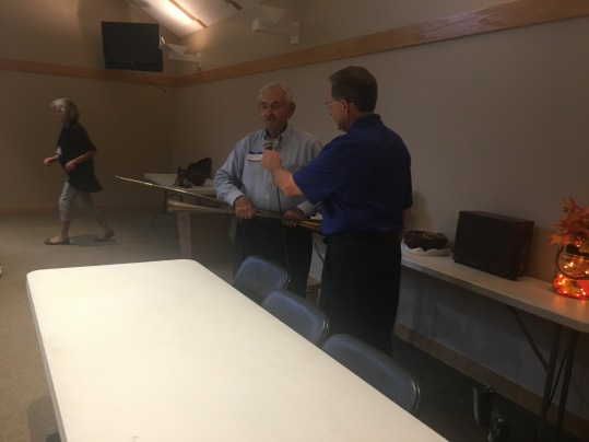 Mr. Jack Christy of Christy's Auction House gives his antique evaluation to Jim